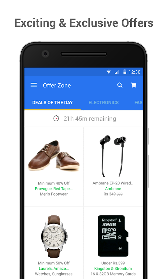 Screenshots of Flipkart Online Shopping App for Android