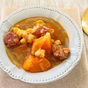 Chickpea, Squash and Chorizo Soup
