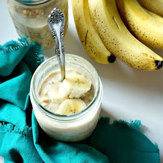 Overnight Peanut Butter Banana Pudding Oatmeal {Vegan, Gluten-Free}