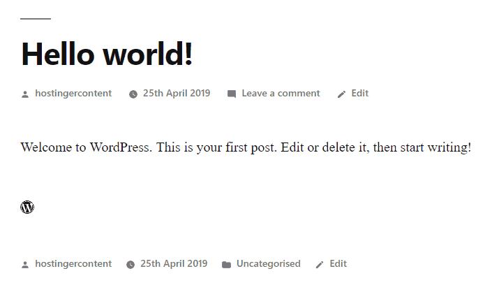 resultado do código de ícone adicionado no wordpress