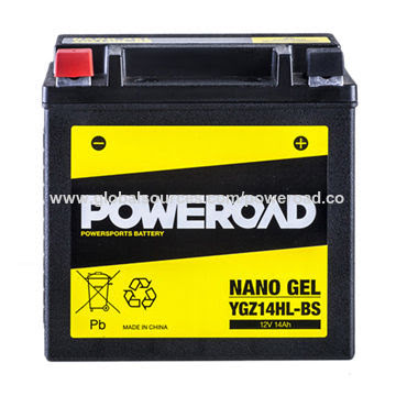 YZG14HL-BS Gel batteri 14Ah