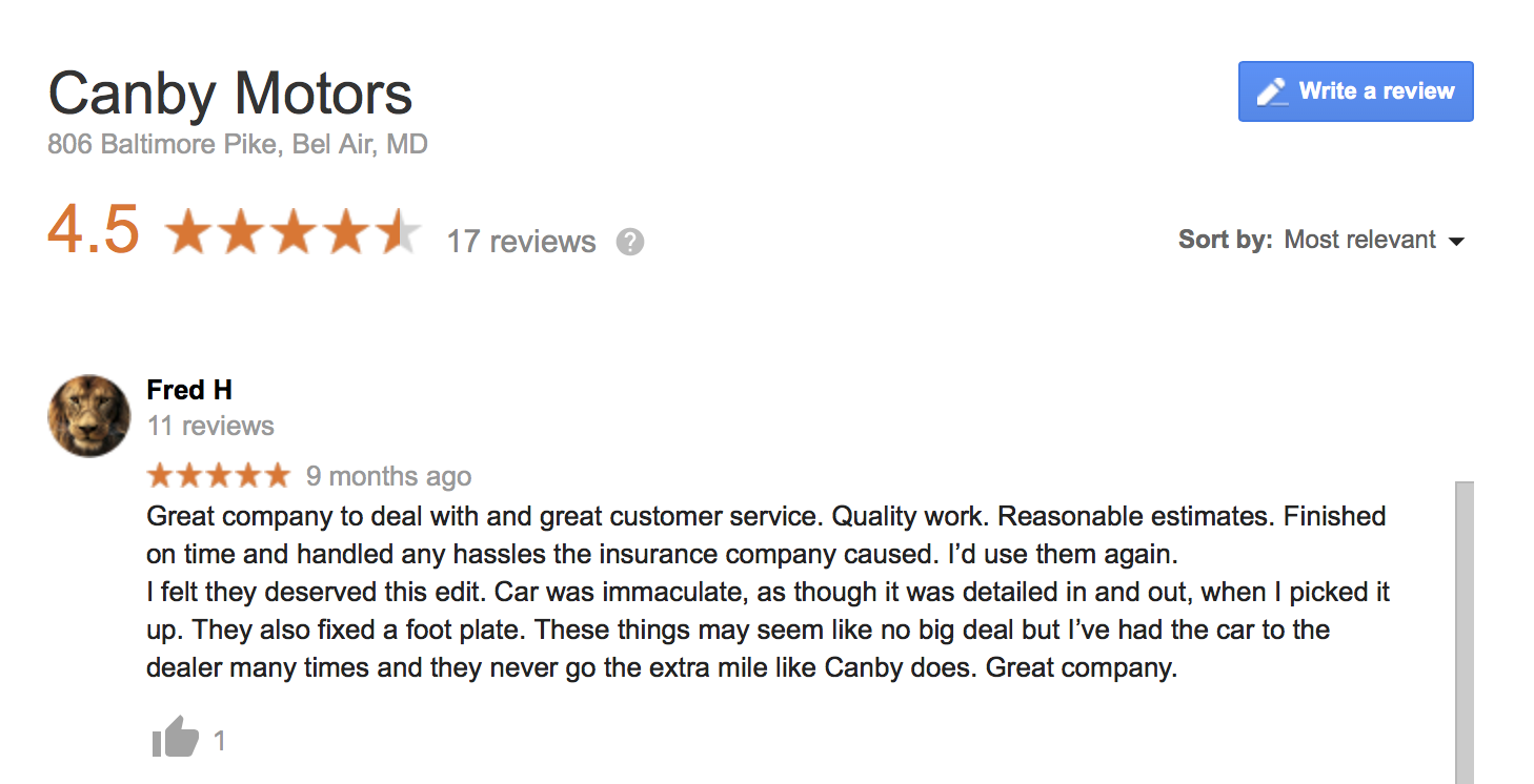 Canby Motors review