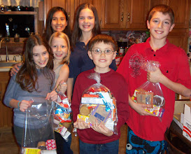 Photo: Packing the kare kits with friends Meny, Lisa, Emma, Kylee, Robbie and Quinton. December 2012.