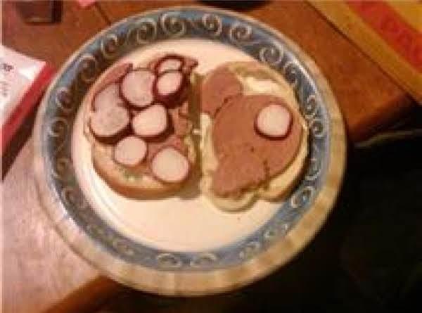 Braunswager And Radish Sandwich