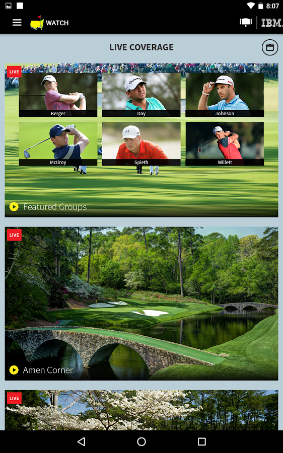 The Masters Golf Tournament- screenshot