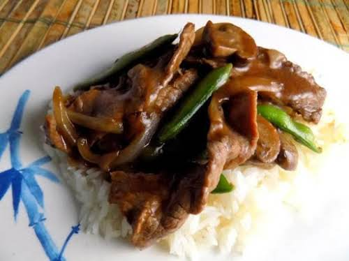"Beef and Snow Peas ""We have made this several times...once I didn't..."