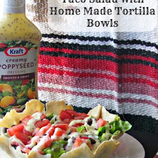 Taco Salad in Homemade Tortilla Bowls