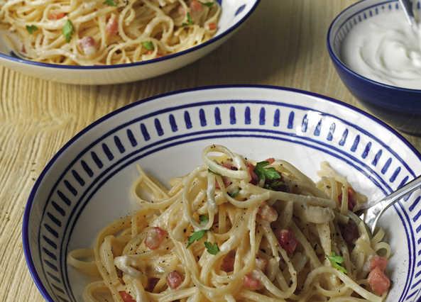 Carbonara Recipe with a Greek-Style Yogurt Twist Recipe