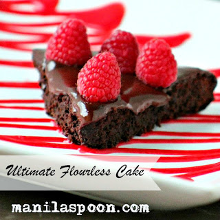 Ultimate Flourless Chocolate Cake (with Raspberry Coulis)