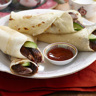 Slow Roasted Five Spice Duck Rolls.
