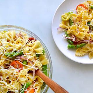 Asparagus Pasta Salad with Italian Dressing.