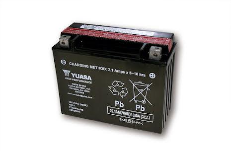 YUASA MC-batteri YTX 24HL-BS underhållsfritt (AGM) inkl. syrapack