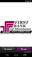 Screenshot of First Bank MT Mobile Banking
