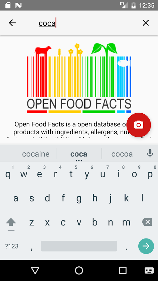 Open Food- screenshot