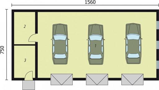G219 - Rzut garażu