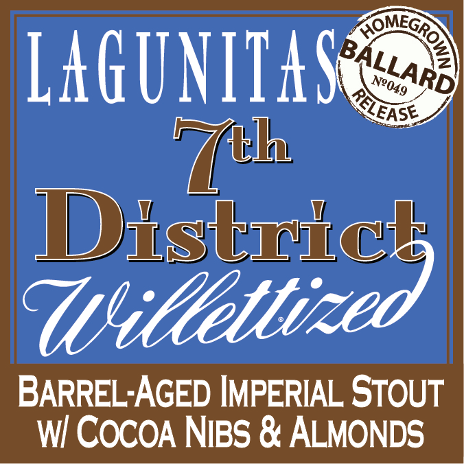 Logo of Lagunitas 7th District Willettized W/cocoa, Almonds, & Coconut