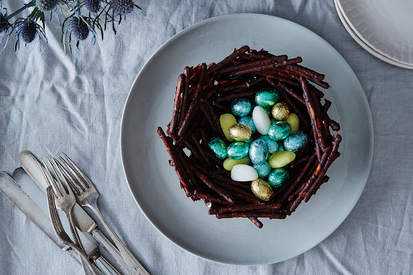 Surprise the Easter Bunny with pretzels.