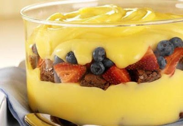 Berry Brownie Pudding Recipe