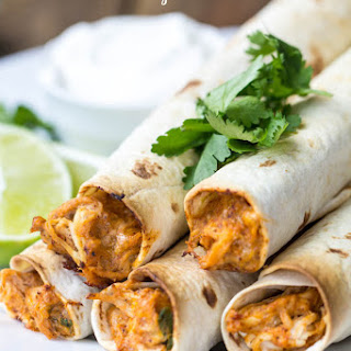 Baked Cream Cheese Chicken Taquitos