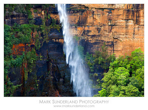 Photo: #WaterfallWednesday  Fitzroy Falls  The cascade of Fitzroy Falls drifts across the cliff face on a blustery spring day in the Southern Highlands of New South Wales. I took this shot on my only trip to Australia almost exactly four years ago, travelling from Sydney through New South Wales and Victoria. There are easy trails to this waterfall and it's well worth a look.  I know it was four years ago as it was during the last Rugby World Cup and I enjoyed watching England beat Australia by 1 point in the knock-out stages! Not sure what will happen this time...  Canon EOS 5D, 24-105mm at 105mm, ISO 100, 1/15s at f14.