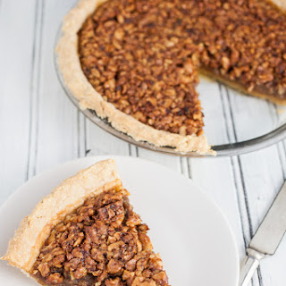 Maple Bourbon Walnut Pie