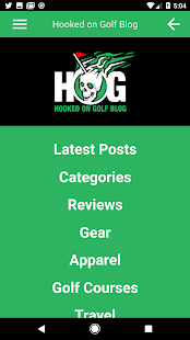 Hooked on Golf Blog App- screenshot thumbnail