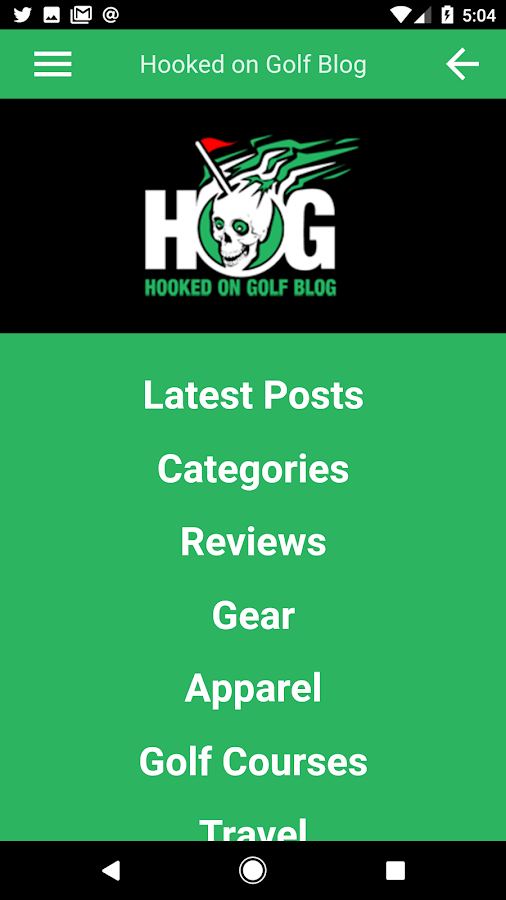 Hooked on Golf Blog App- screenshot