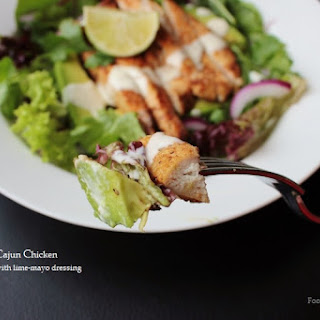 Warm Cajun Chicken & Avocado Salad