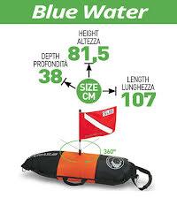 Blue water float