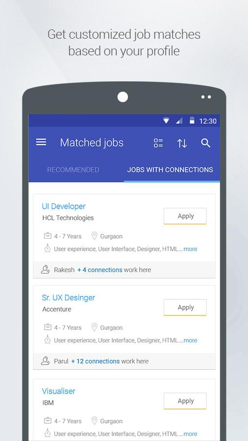 Shine.com Job Search- screenshot