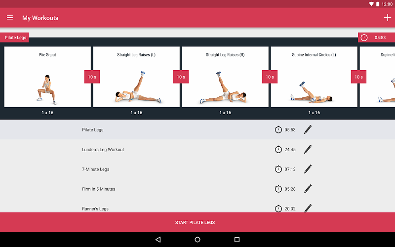 Runtastic Leg Trainer - Workouts & Exercises Screenshot 10