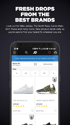 JD Sports Android App Screenshot