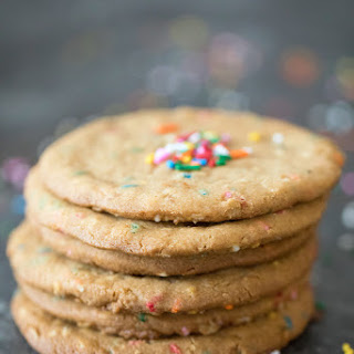 XL Peanut Butter Cookies with Sprinkles.
