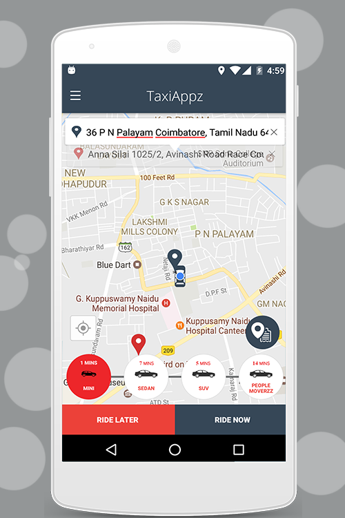 Taxiappz Customer- screenshot