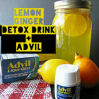 Lemon Ginger Detox Drink.