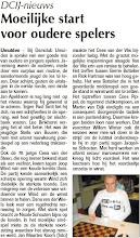 Photo: DCIJ-nieuws. Moeilijke start voor oudere spelers. 1 september 2011