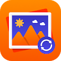 Recover deleted photos, Photo backup icon