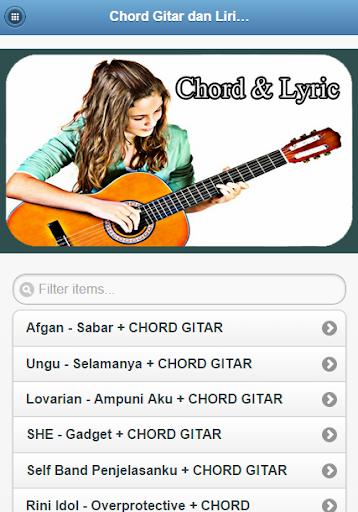 Chord Gitar Lirik Lagu Top
