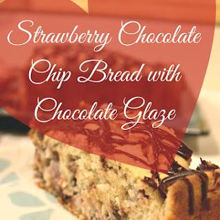 Strawberry Chocolate Chip Bread with Chocolate Glaze