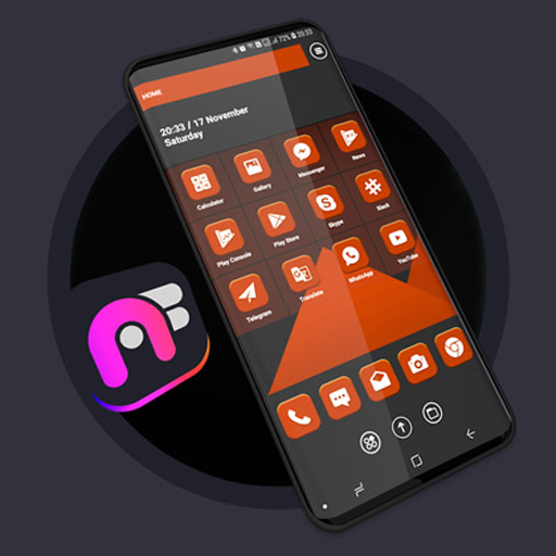 Material Orange Theme - Art Fine Launcher Android APK Download Free By ARTFINE.STORE