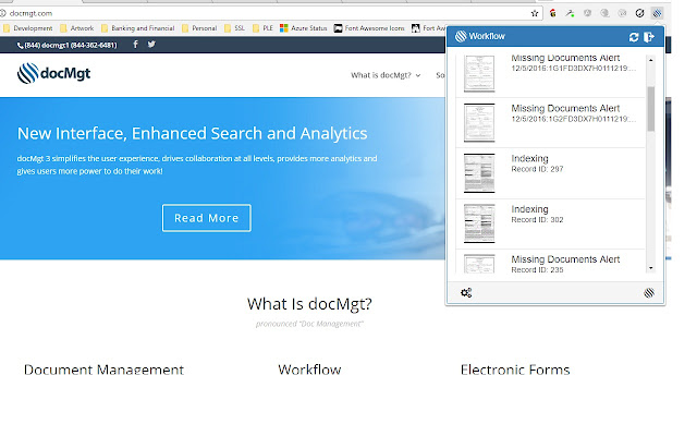docMgt Workflow Monitor