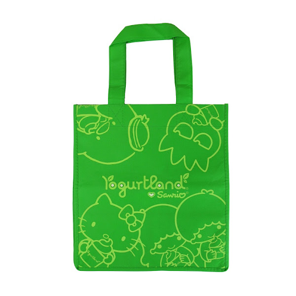 Photo: Sanrio x Yogurtland Eco Tote in Green - $ 2.50  Click this link to find a participating Yogurtland location near you: http://bit.ly/NkviYF