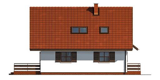 Dom przy Cyprysowej - Elewacja lewa