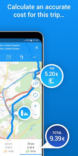 ViaMichelin Route planner,maps screenshot 3