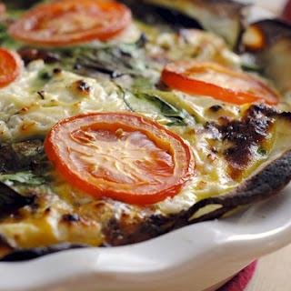 Tomato & Spinach Quiche with Potato Crust