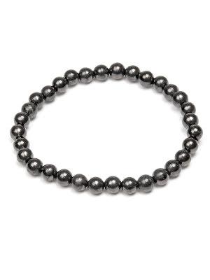 Shungit armband runda pärlor 6 mm
