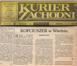 Photo: KURIER ZACHODNI - 1 - 2 lipca 1991 r.