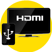 HDMI Connector (mhl/hdmi/usb ScreenMirroring) Icon