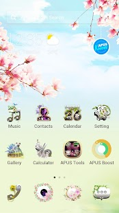 Flower|APUS Launcher theme- screenshot thumbnail