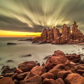 Drama at Pinnacles by Madhujith Venkatakrishna - Landscapes Caves & Formations (  )